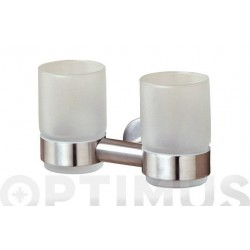 PORTAVASOS DOBLE BOSTON INOX