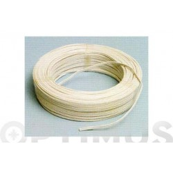 CABLE AUDIO BLANCO/GRIS 2X0,75