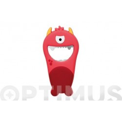 ABREBOTELLAS PVC MONSTER ROJO
