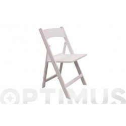 SILLA PLEGABLE RESINA WHITE
