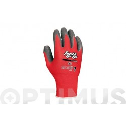 GUANTE FEEL AND GRIP T 10 ROJO